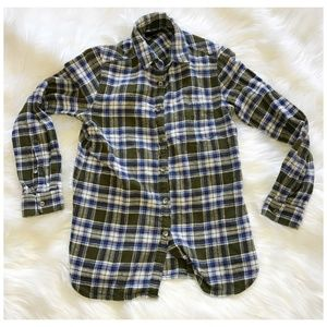 J. Crew plaid shrunken boy shirt, size 0